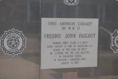 First American Casualty Of WW II Marker image. Click for full size.