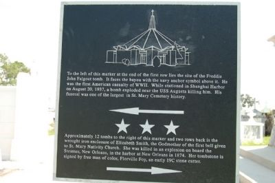 Cemetery Plaque showing directions to grave site image. Click for full size.