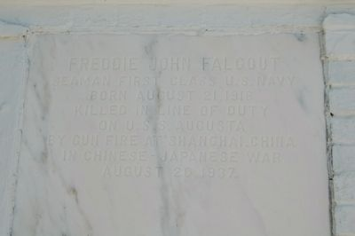 Freddie Falgout grave marker image. Click for full size.