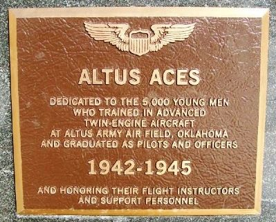 Altus Aces Marker image. Click for full size.