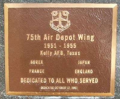 75th Air Depot Wing Marker image. Click for full size.