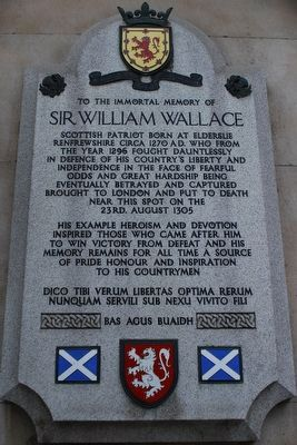 Sir William Wallace Memorial Marker image. Click for full size.