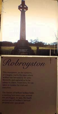 Robroyston Wallace Memorial Display at National Wallace Monument image. Click for full size.