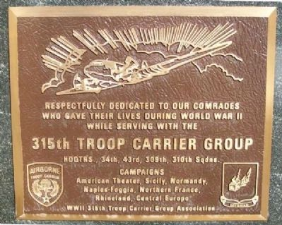 315th Troop Carrier Group Marker image. Click for full size.