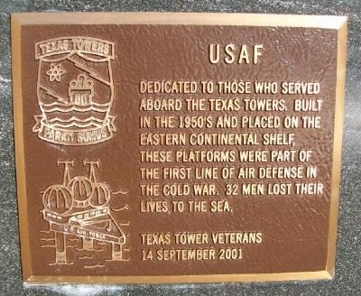 USAF Texas Towers Marker image. Click for full size.