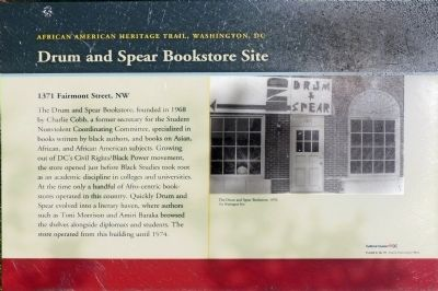 Drum and Spear Bookstore Site Marker image. Click for full size.