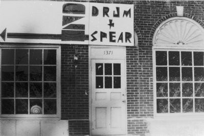 The Drum and Spear Bookstore, 1970. image. Click for full size.