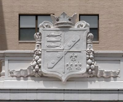 Crest Above the Front Door<br>Columbia Uptown image. Click for full size.