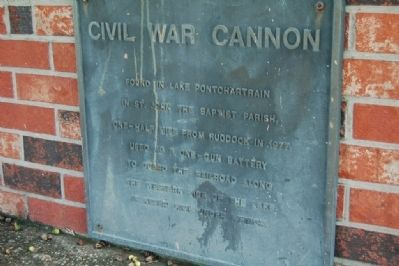 Civil War Cannon Marker image. Click for full size.