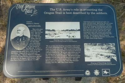 The US Army's Role in Protecting the Oregon Trail is Best Described by the Soldiers Marker, panel 2 image. Click for full size.