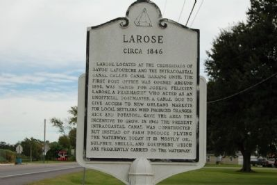 Larose Marker image. Click for full size.