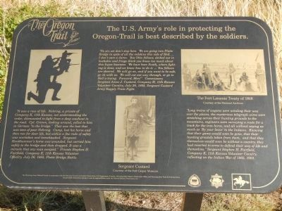 The US Army's Role in Protecting the Oregon Trail is Best Described by the Soldiers Marker, panel 3 image. Click for full size.