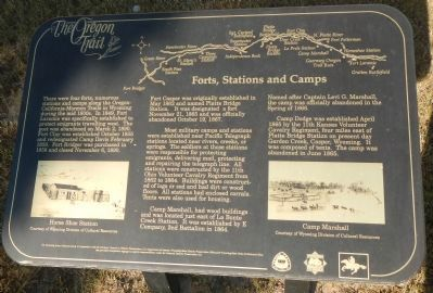 Forts, Stations, and Camps Marker, panel 1 image. Click for full size.