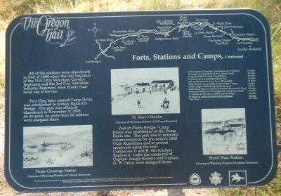 Forts, Stations, and Camps Marker, panel 2 image. Click for full size.