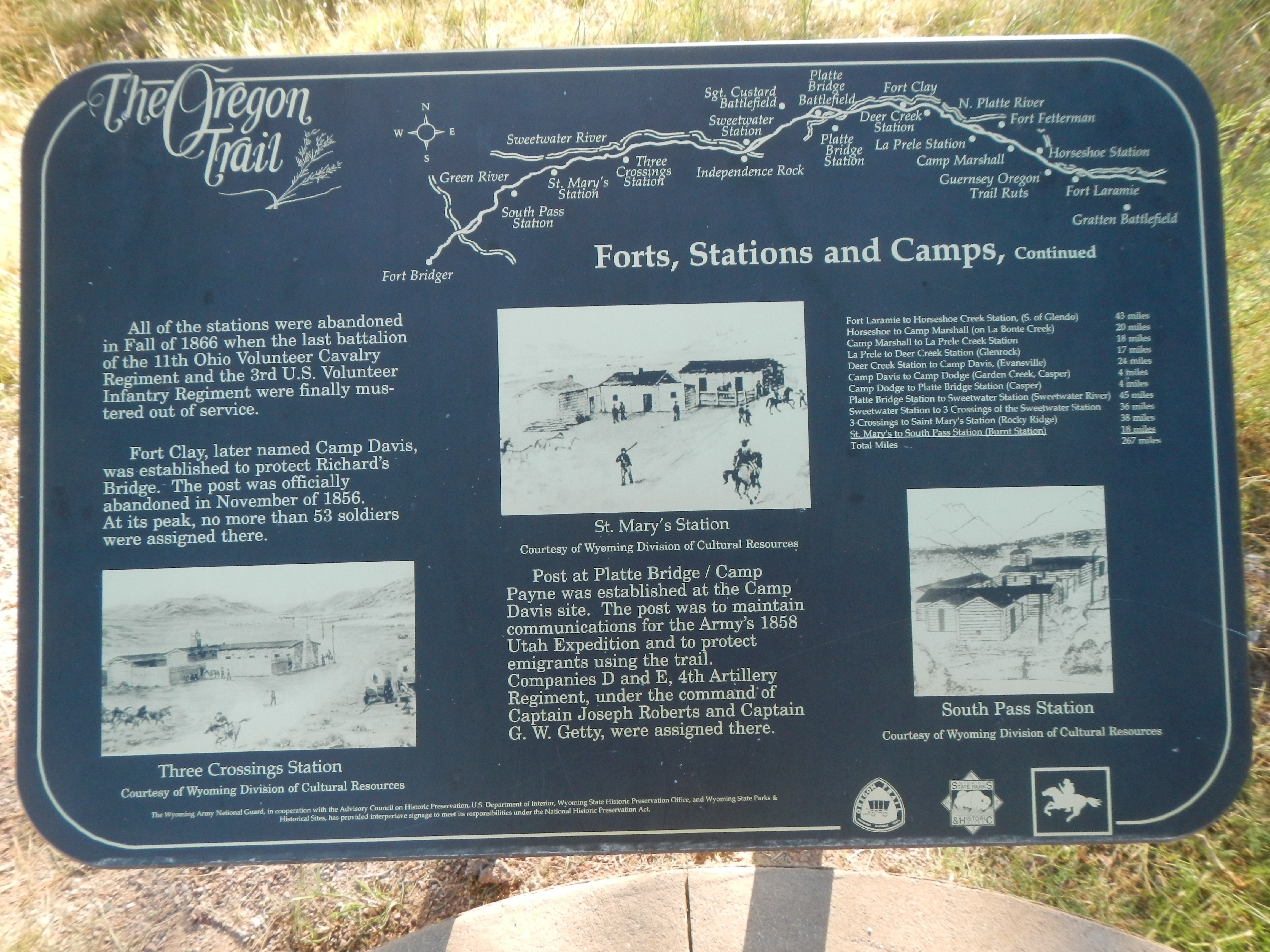 Forts, Stations, and Camps Marker, panel 2