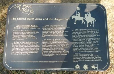 The United States Army and the Oregon Trail Marker image. Click for full size.