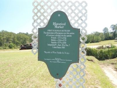 First European Settlers Marker image. Click for full size.
