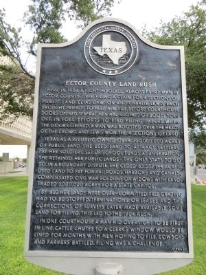 Ector County Land Rush Marker image. Click for full size.