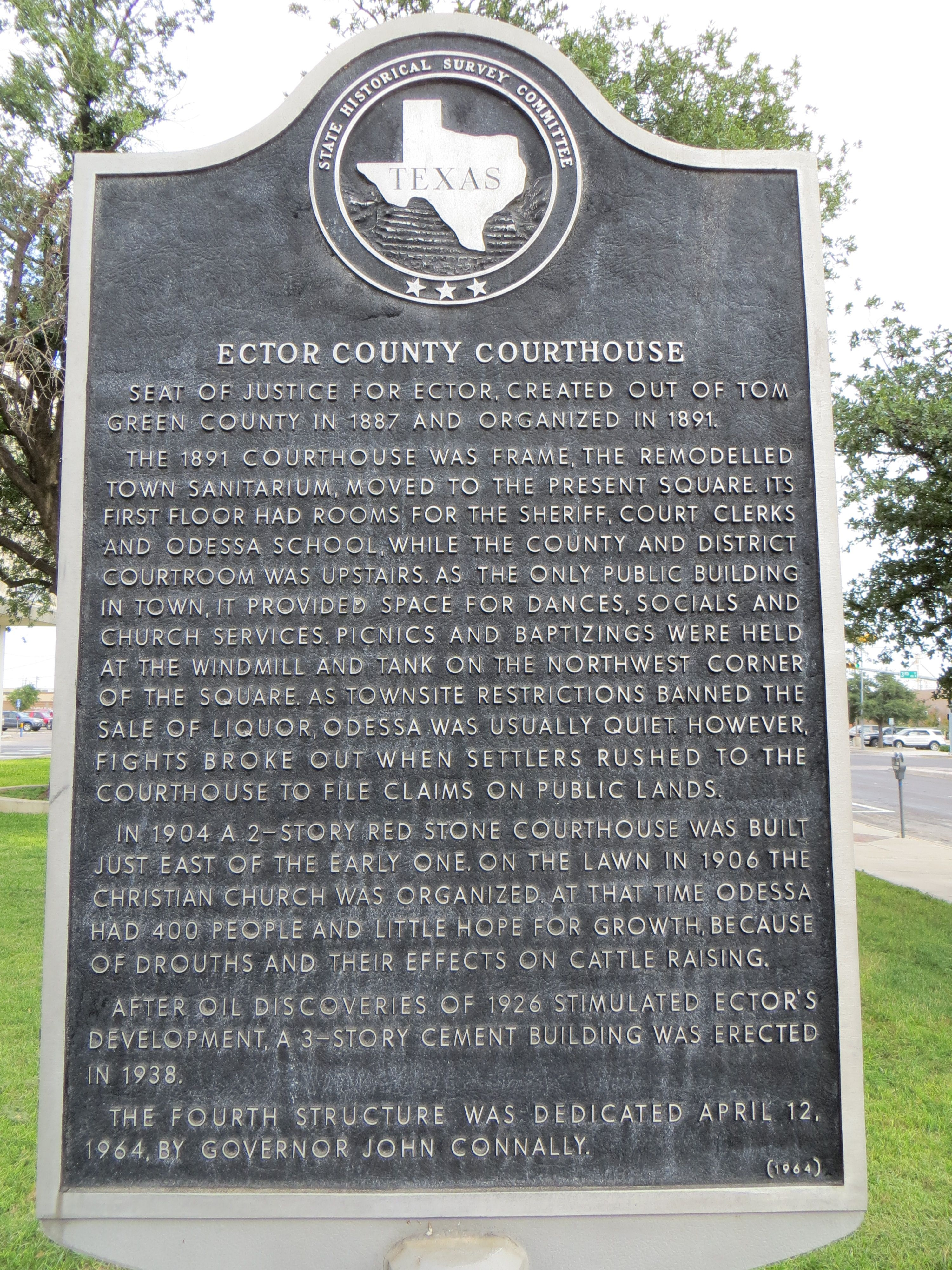 Ector County Courthouse Marker