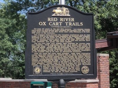 Red River Ox Cart Trails Marker image. Click for full size.