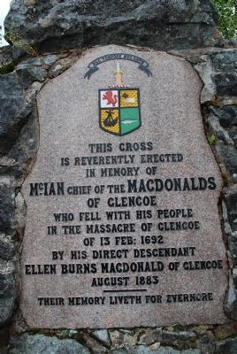 Massacre of Glencoe Memorial Marker image. Click for full size.