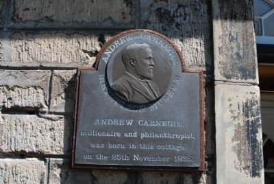 Andrew Carnegie Birthplace Museum Marker image. Click for full size.