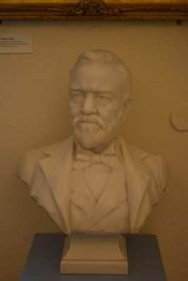 Andrew Carnegie Bust image. Click for full size.