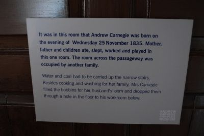 Birthplace Room of Andrew Carnegie image. Click for full size.