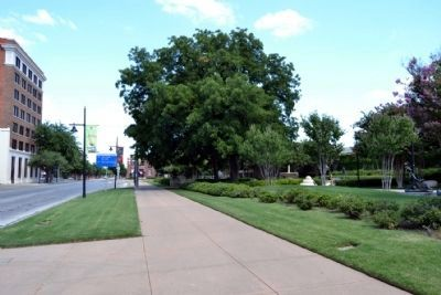 View to East from Sidewalk in Front of T&P Depot image. Click for full size.