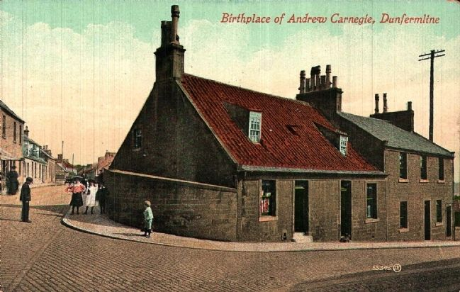 <i>Birthplace of Andrew Carnegie, Dunfermline</i> image. Click for full size.