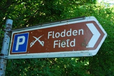 Battle of Flodden Road Sign image. Click for full size.