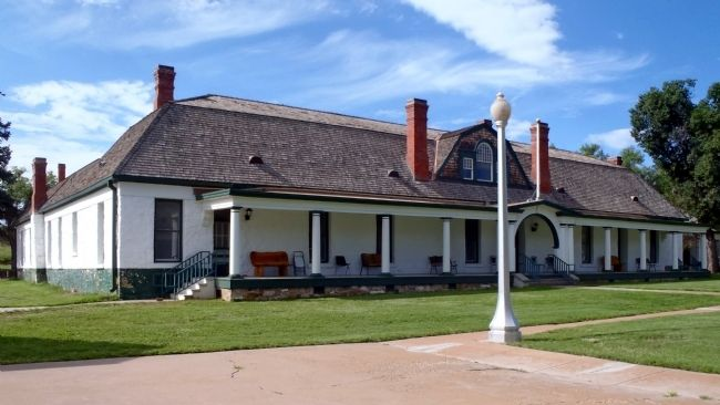 Hospital Administration Building (Fort Stanton Historic Site Visitor Center and Museum) image. Click for full size.