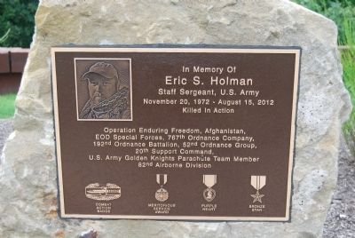 In Memory of Eric S. Holman, Staff Sergeant, U.S. Army Marker image. Click for full size.