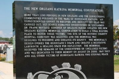 The New Orleans Katrina Memorial Marker image. Click for full size.