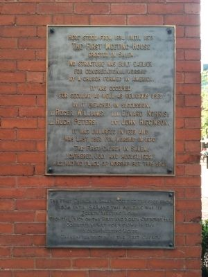 The First Meeting House Erected in Salem Marker image. Click for full size.