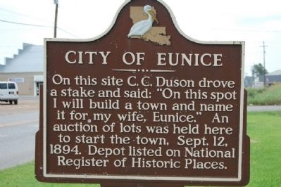 City Of Eunice Marker image. Click for full size.