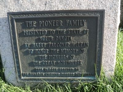 The Pioneer Family Marker image. Click for full size.