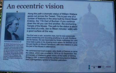 An Eccentric Vision William Wallace Statue Marker at the Trailhead image. Click for full size.