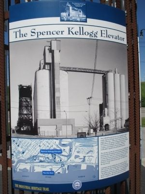 The Spencer Kellogg Elevator Marker image. Click for full size.