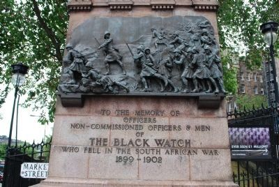 The Black Watch Monument Marker - Inscription image. Click for full size.