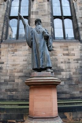 John Knox Statue image. Click for full size.