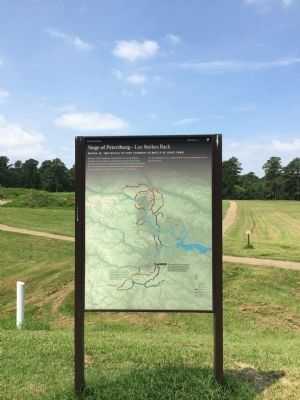 Siege of Petersburg — Lee Strikes Back Marker image. Click for full size.