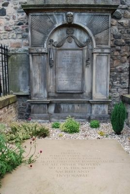 Adam Smith Grave Marker image. Click for full size.
