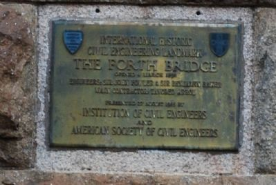 The Forth Rail Bridge Marker image. Click for full size.