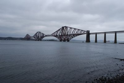 The Forth Rail Bridge - Wide View image. Click for full size.