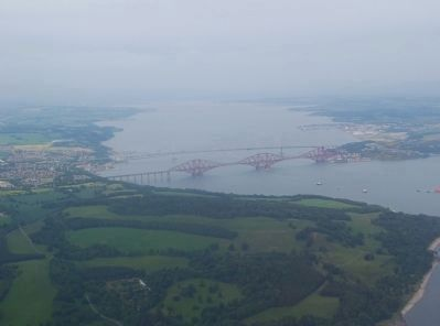 The Forth Rail Bridge - Aerial View image. Click for full size.