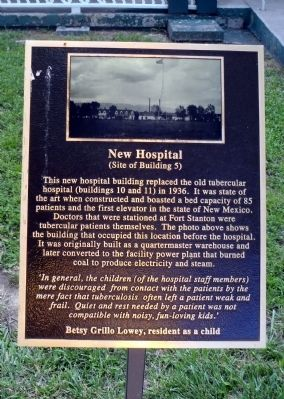 New Hospital Marker image. Click for full size.