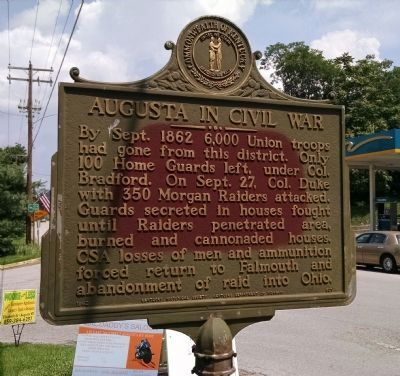 Augusta In Civil War Marker image. Click for full size.
