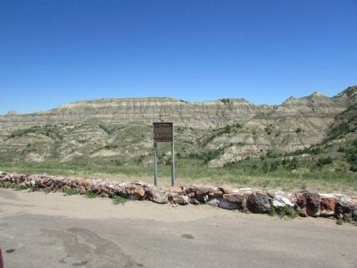 Badlands Panorama Marker image. Click for full size.
