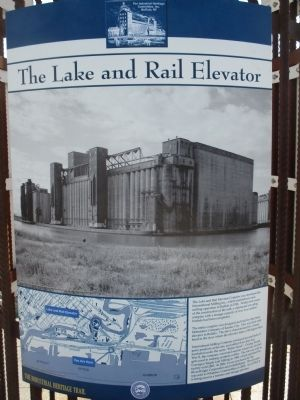 The Lake and Rail Elevator Marker image. Click for full size.